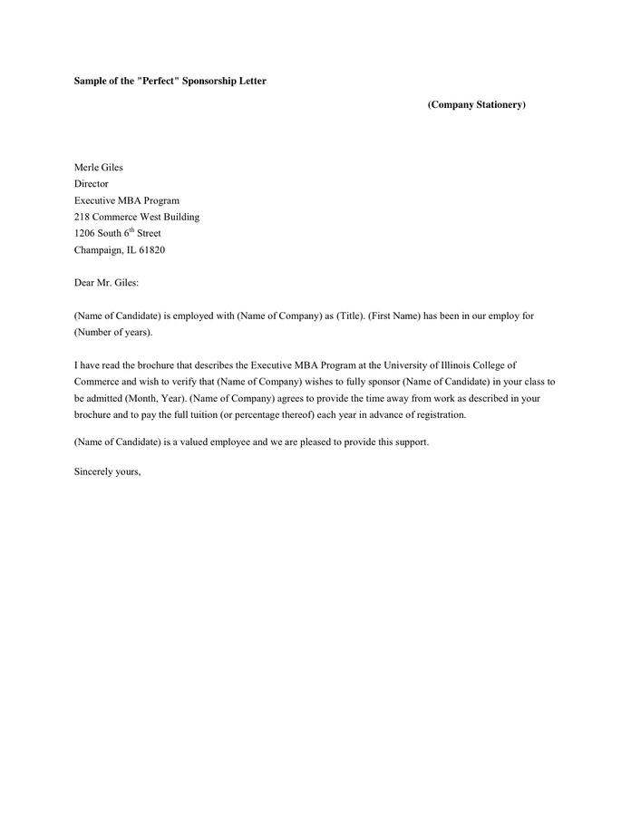 Sample Event Sponsorship Letter from static.dexform.com