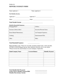 Monthly Budget Form page 1 preview