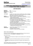 JOB DESCRIPTION page 1 preview