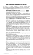 REAL ESTATE PURCHASE and SALES CONTRACT page 1 preview