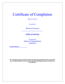 Certificate of Participation & Completion page 1 preview