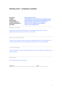 Simple Job Description Template page 1 preview