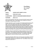 Sheriff press release template page 1 preview