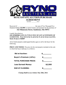 AUCTION REAL ESTATE PURCHASE AGREEMENT page 1 preview