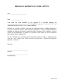 Sample Personal Reference Request Letter page 1 preview