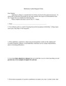 Reference Letter Request Form page 1 preview