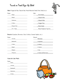 Trunk or Treat Sign Up Sheet page 1 preview