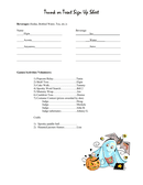 Trunk or Treat Sign Up Sheet page 2 preview