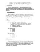 ESSAY OUTLINE SAMPLE TEMPLATE page 1 preview