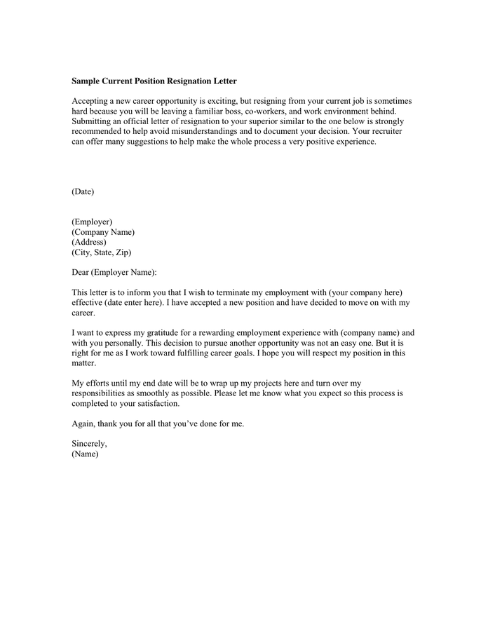 Resignation Letter To Coworkers from static.dexform.com