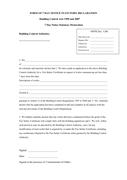 FORM OF 7 DAY NOTICE STATUTORY DECLARATION page 1 preview