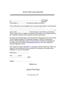STATUTORY DECLARATION Form page 1 preview