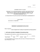 Guardianship Application page 1 preview