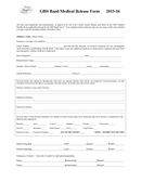 Medical Release Form Trip page 1 preview