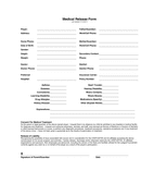 Medical Release Form page 1 preview