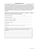 SAMPLE Medical Release Form page 1 preview