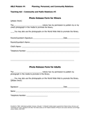 Photo Release Form for Minors page 1 preview
