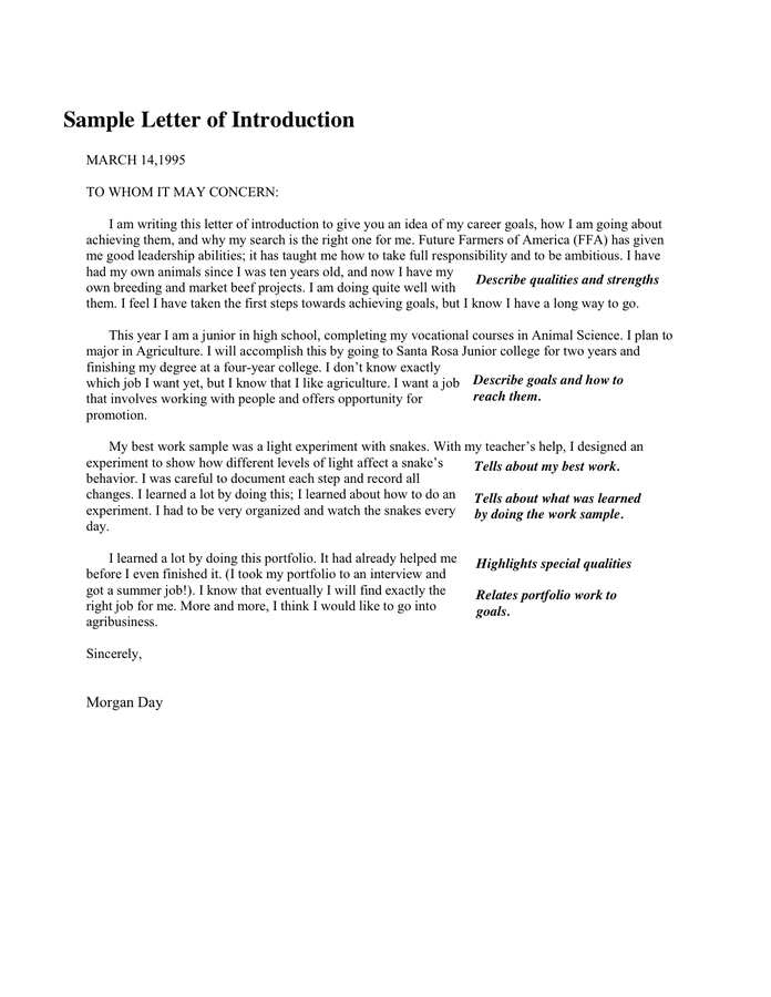 Letter Of Introduction For Portfolio Example from static.dexform.com