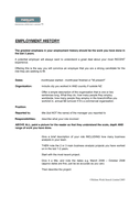 Resume template page 2 preview