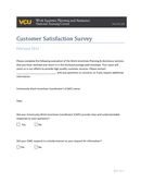 Customer Satisfaction Survey page 1 preview