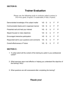 Training Evaluation Form page 2 preview