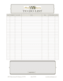 Sample To do list page 1 preview