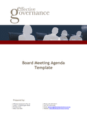 Board Meeting Agenda Template page 1 preview