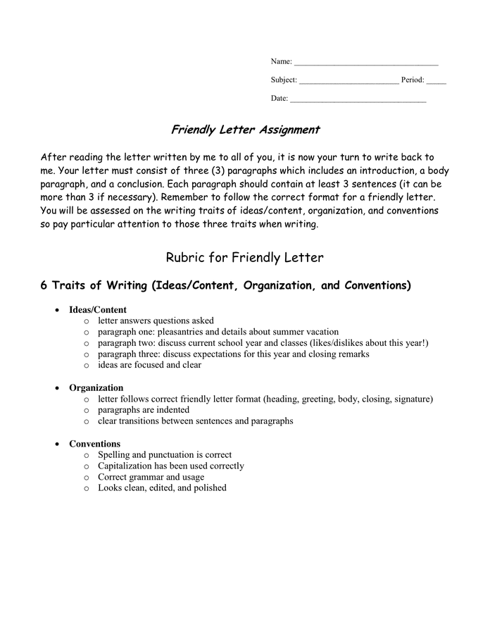 sample friendly letter friendly letter sample in word and pdf formats page 2 of 2 24600 | friendly letter sample 2 2