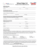 Emergency Contact & Authorization Form page 1 preview