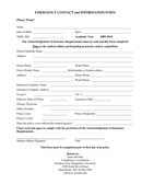 EMERGENCY CONTACT and INFORMATION FORM page 1 preview