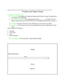 Friendly Letter Report Planner page 1 preview