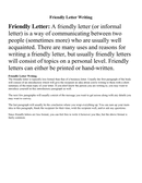 Friendly Letter Writing page 1 preview