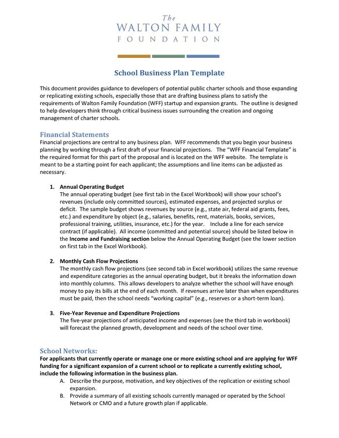 Business plan school project sample sample entry level marketing resume