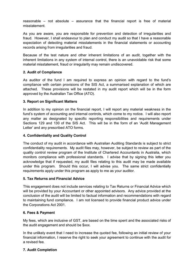 Sample Audit Engagement Letter from static.dexform.com
