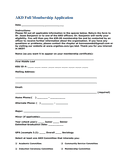 Full Membership Application page 1 preview