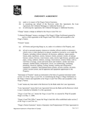 INDEMNITY AGREEMENT page 2 preview