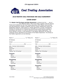 MASTER COAL PURCHASE AND SALE AGREEMENT page 1 preview