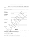 AUCTION PURCHASE AND SALE AGREEMENT page 1 preview