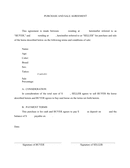 PURCHASE AND SALE AGREEMENT page 1 preview