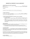RESIDENTIAL PROPERTY LEASE AGREEMENT page 1 preview
