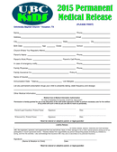 Medical/Permission and Release Form page 1 preview