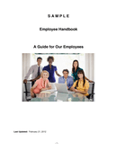 Sample Employee Handbook page 1 preview