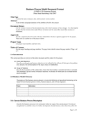 Business Process Model Template page 1 preview