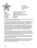 Sample Sheriff's press release page 1 preview