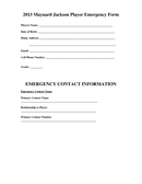 SAMPLE EMERGENCY CONTACT INFORMATION page 1 preview