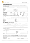 Ticket Booking Form page 1 preview