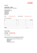 Blank INVOICE template page 1 preview
