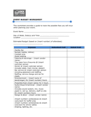 Sample budget & expense form page 1 preview