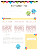 School / kindergarten newsletter template page 1 preview