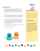 School / kindergarten newsletter template page 2 preview